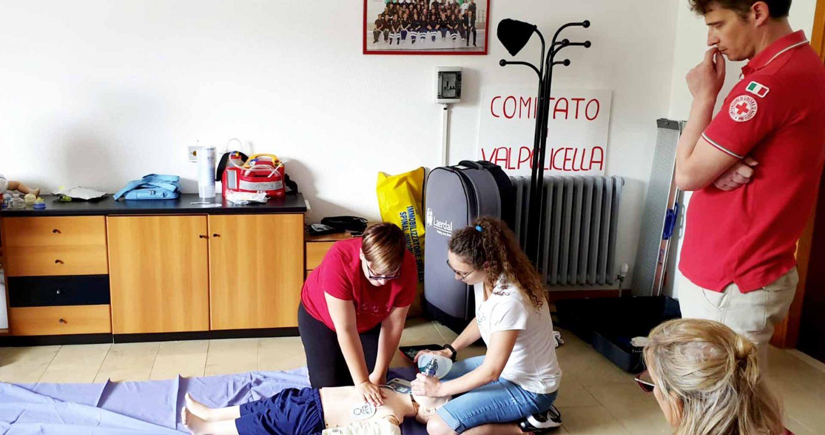 Corso di primo soccorso nelle scuole Croce Rossa Valpolicella