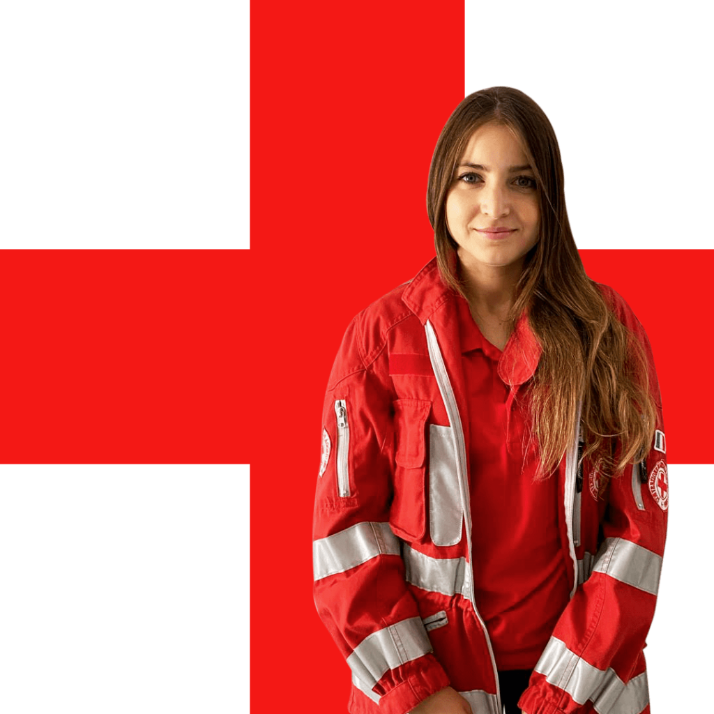 Martina volontaria della Croce Rossa Valpolicella